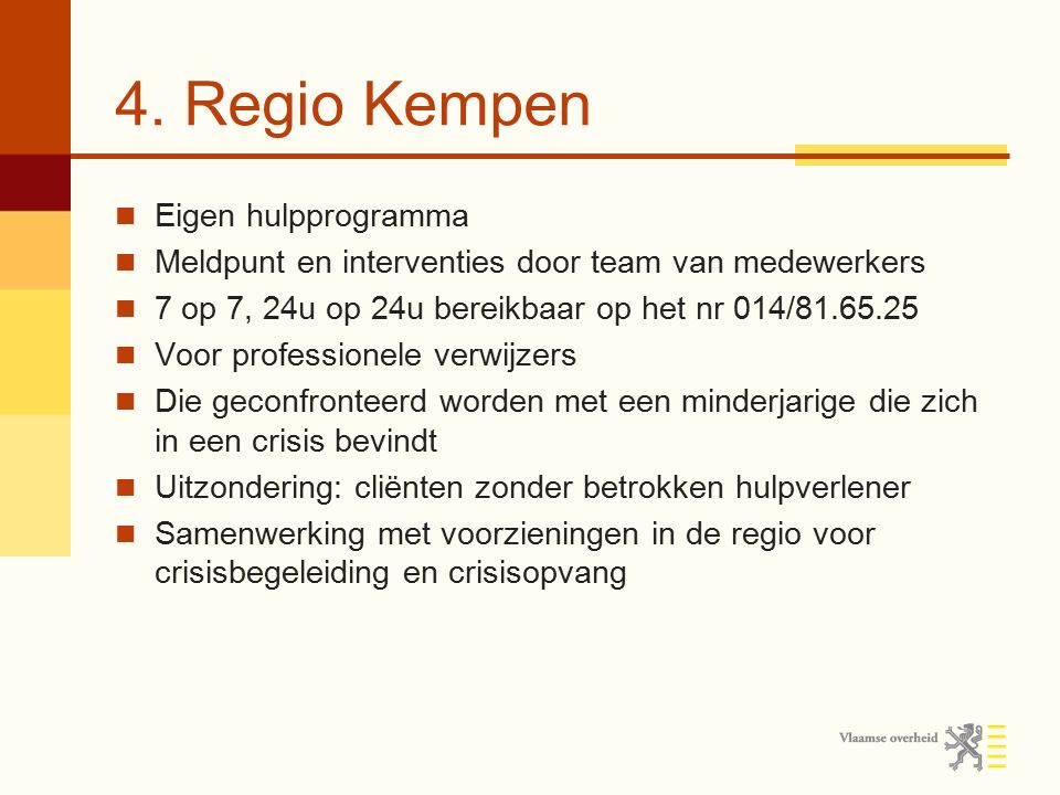 4. Regio Kempen Eigen hulpprogramma