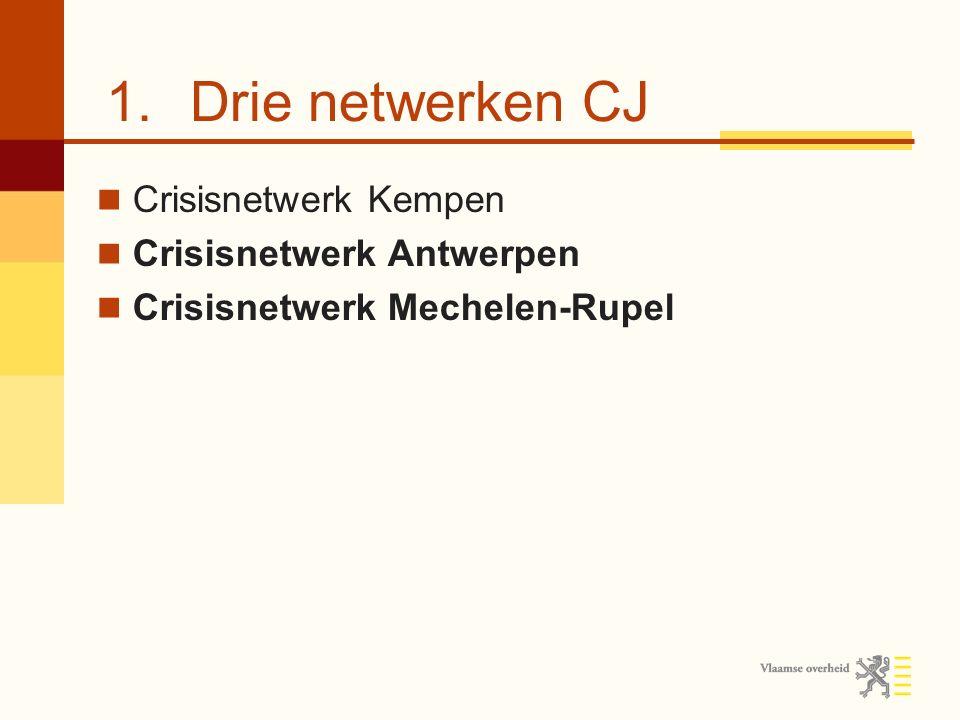 Drie netwerken CJ Crisisnetwerk Kempen Crisisnetwerk Antwerpen