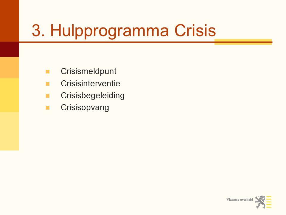 3. Hulpprogramma Crisis Crisismeldpunt Crisisinterventie