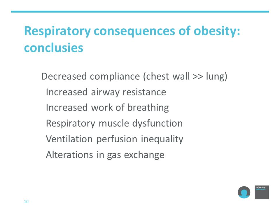 Respiratory consequences of obesity: conclusies