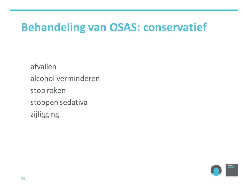 Behandeling van OSAS: conservatief