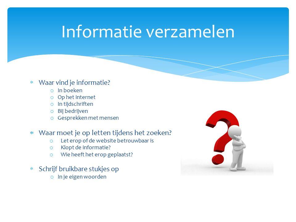 Informatie verzamelen