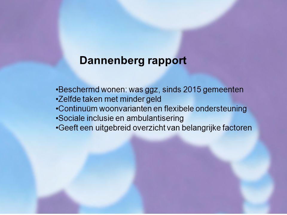 Dannenberg rapport Beschermd wonen: was ggz, sinds 2015 gemeenten