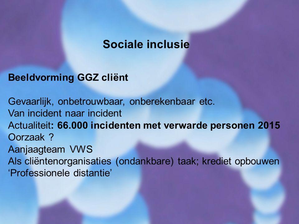 Sociale inclusie Beeldvorming GGZ cliënt