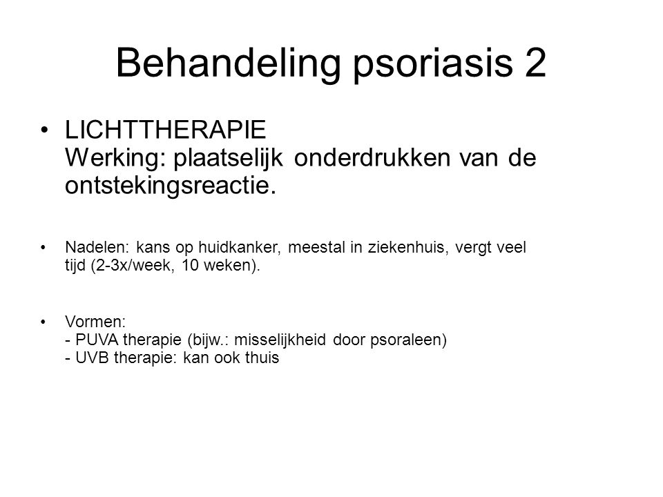 Behandeling psoriasis 2