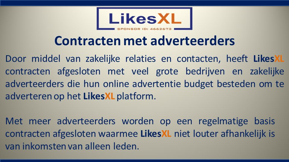 Contracten met adverteerders