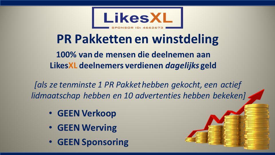 PR Pakketten en winstdeling