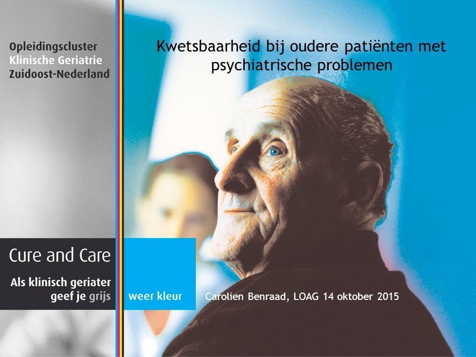 Kwetsbaarheid bij oudere patiënten met psychiatrische problemen