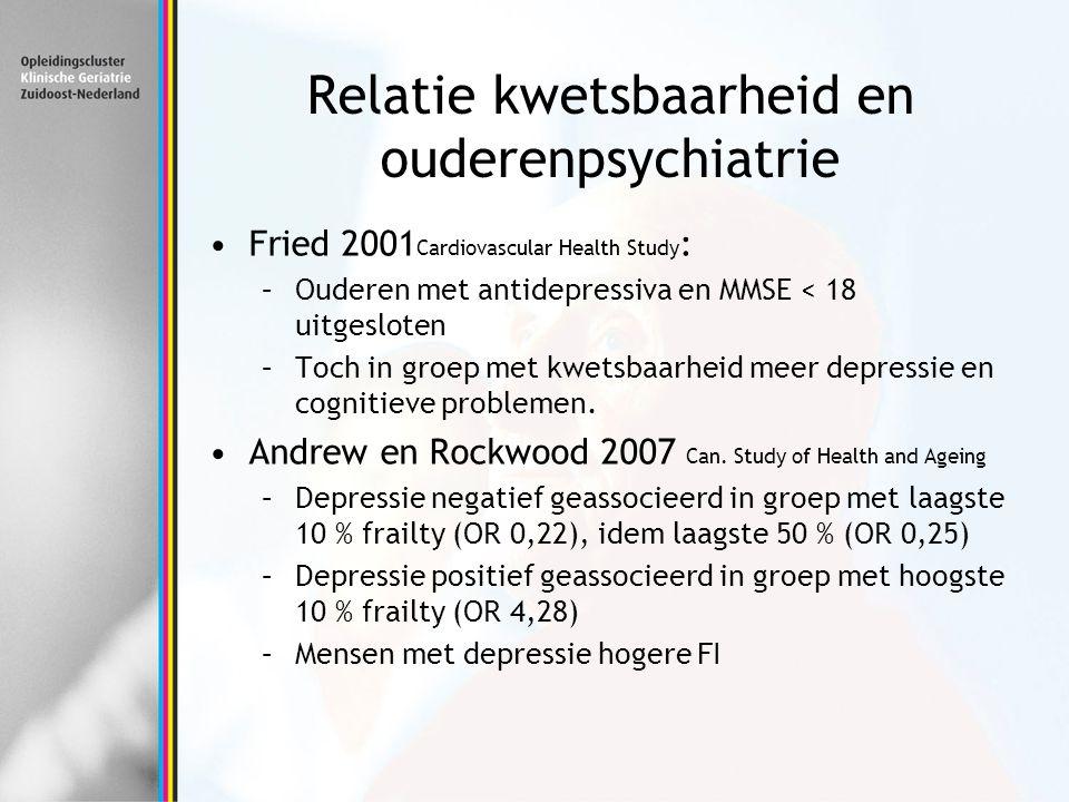 Relatie kwetsbaarheid en ouderenpsychiatrie