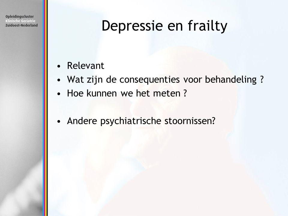 Depressie en frailty Relevant