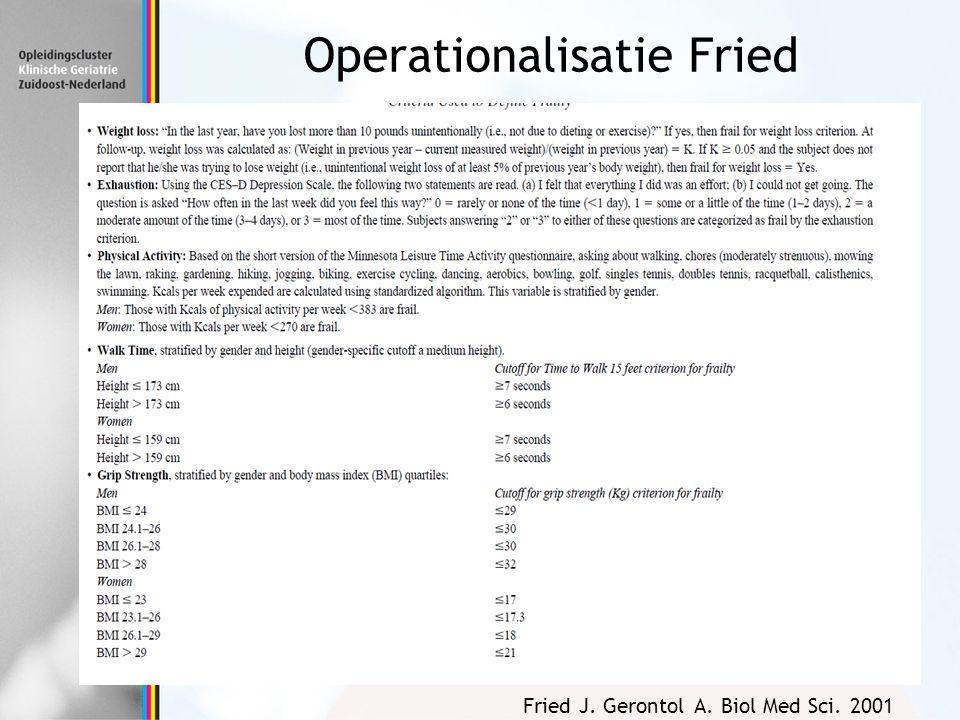 Operationalisatie Fried