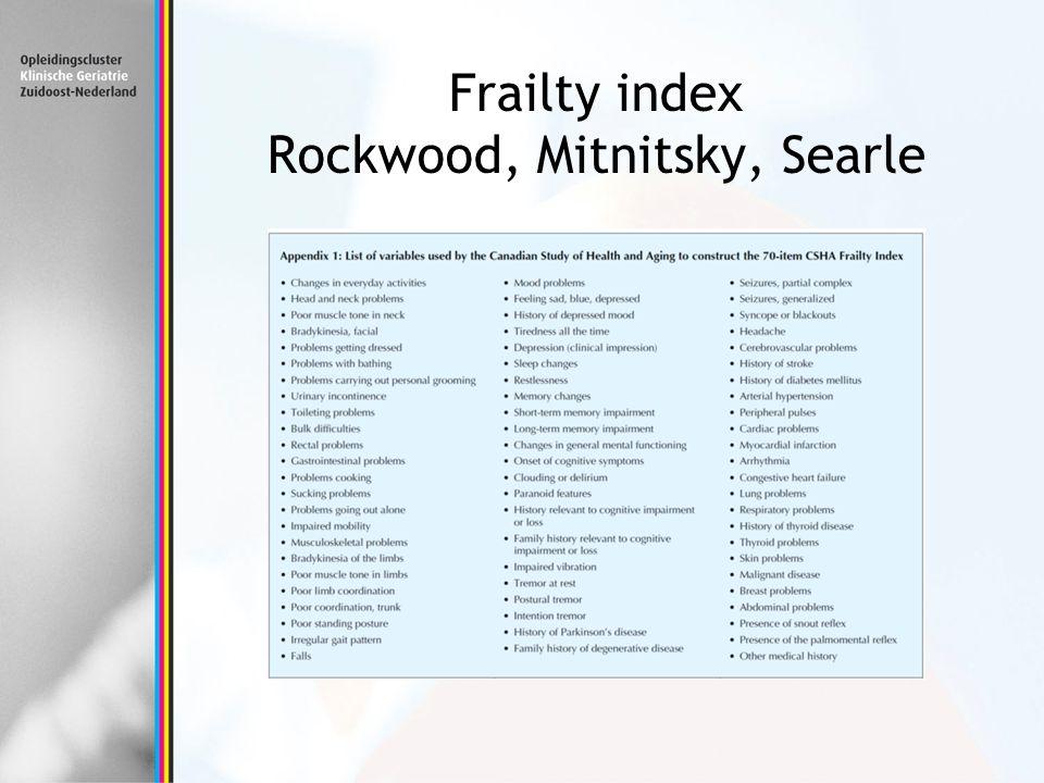 Frailty index Rockwood, Mitnitsky, Searle