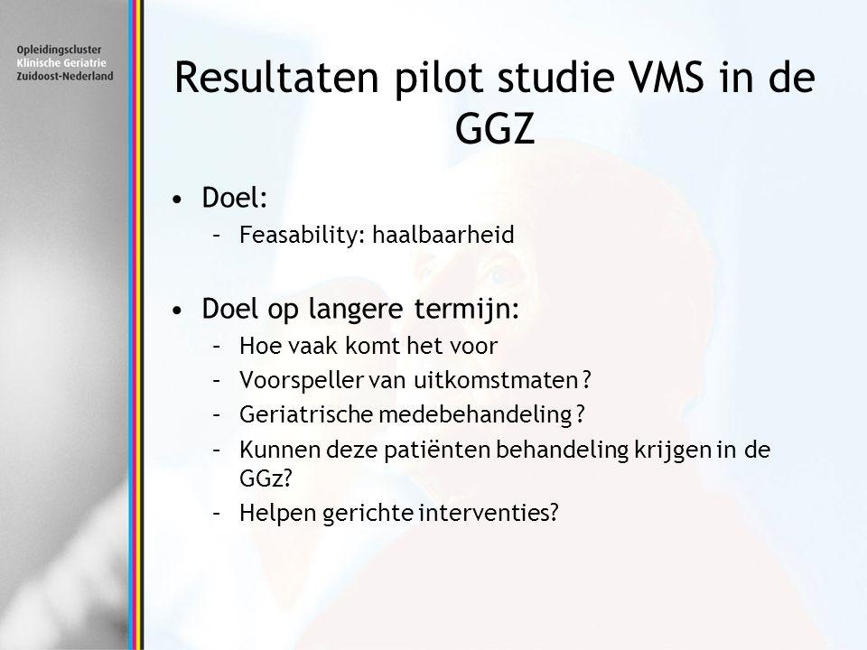 Resultaten pilot studie VMS in de GGZ