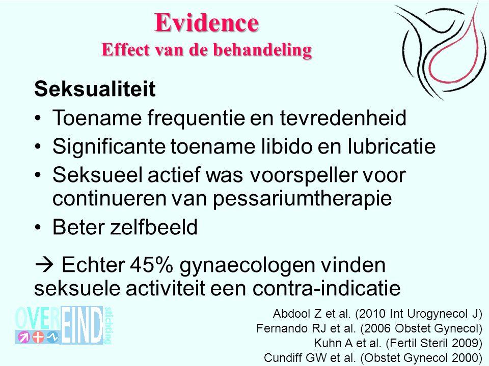 Evidence Effect van de behandeling