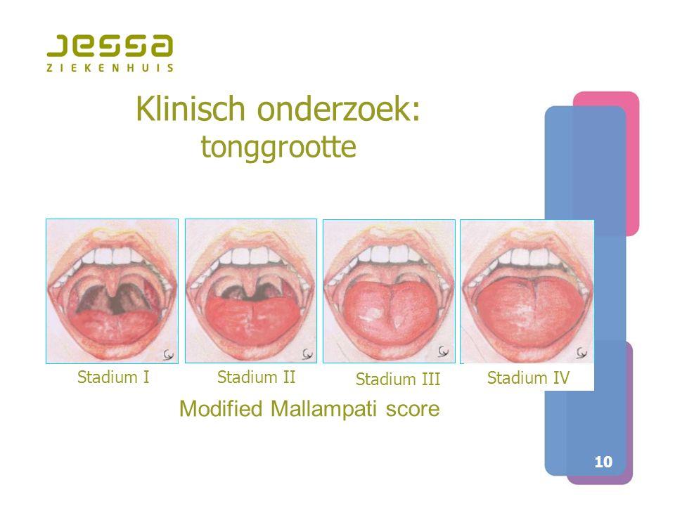Klinisch onderzoek: tonggrootte