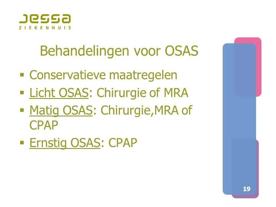 Behandelingen voor OSAS
