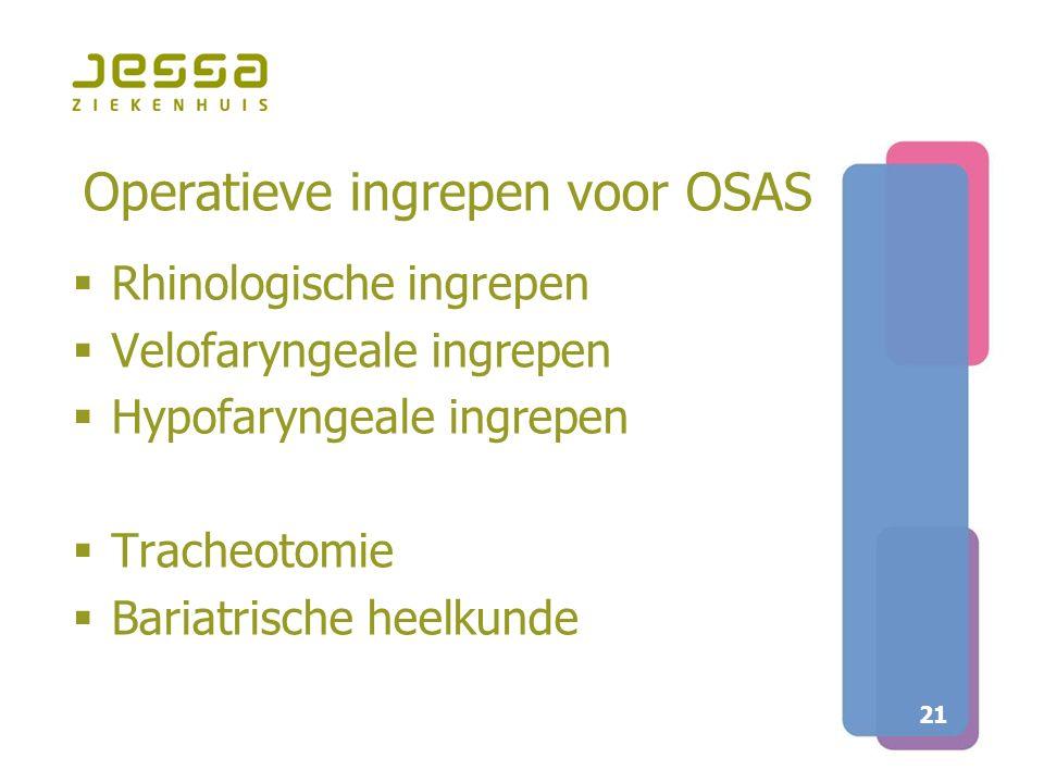 Operatieve ingrepen voor OSAS