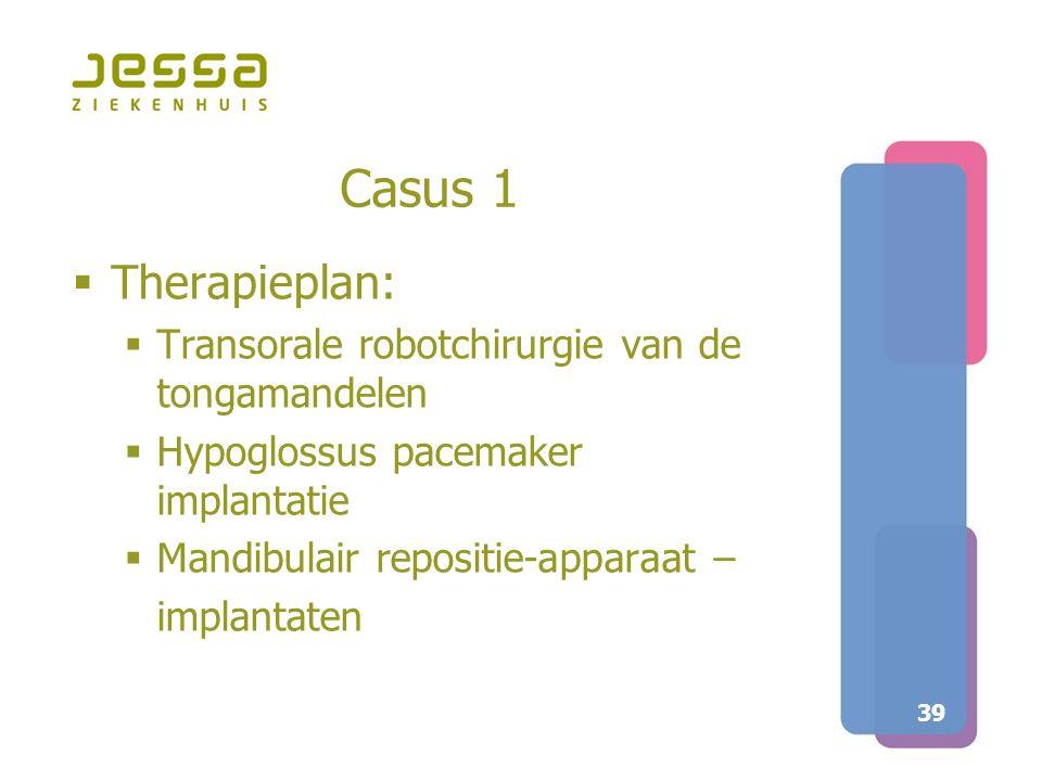 Casus 1 Therapieplan: Transorale robotchirurgie van de tongamandelen