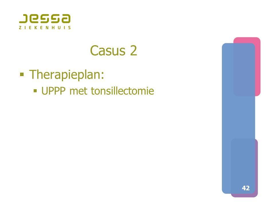 Casus 2 Therapieplan: UPPP met tonsillectomie