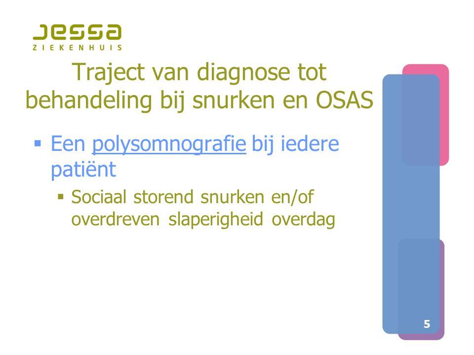 Traject van diagnose tot behandeling bij snurken en OSAS