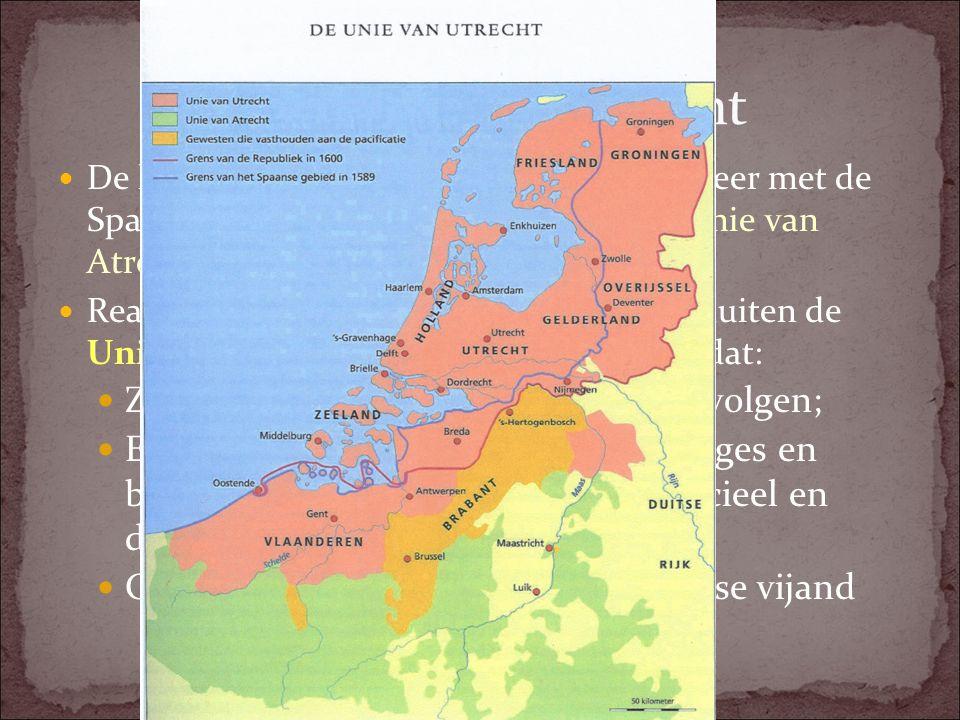1579 Unie van Utrecht Zijn niemand wegens zijn geloof vervolgen;