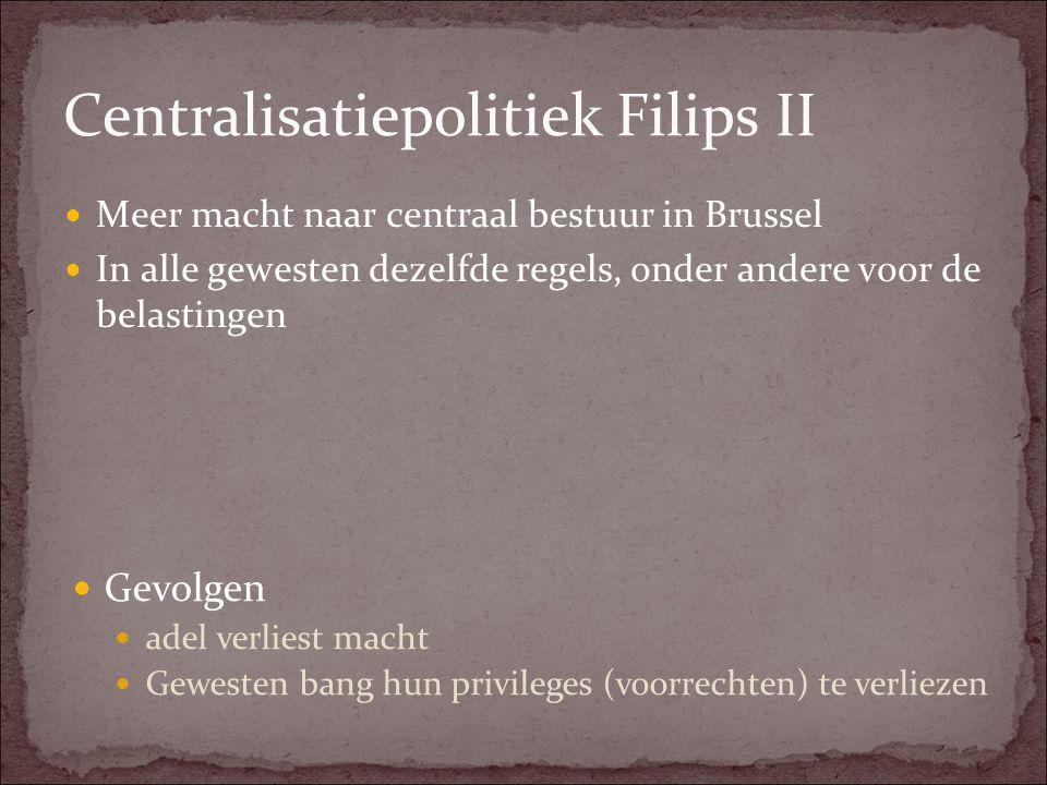 Centralisatiepolitiek Filips II