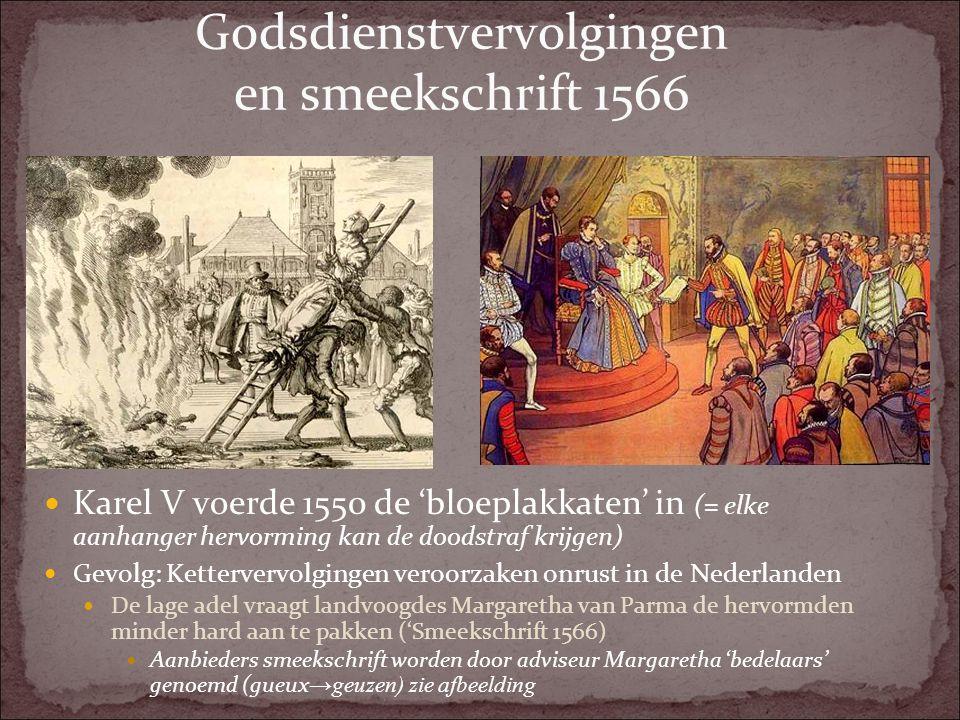 Godsdienstvervolgingen en smeekschrift 1566
