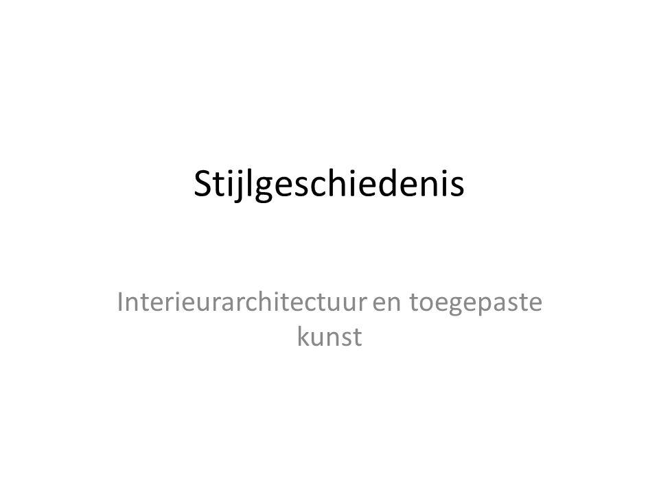 Interieurarchitectuur en toegepaste kunst