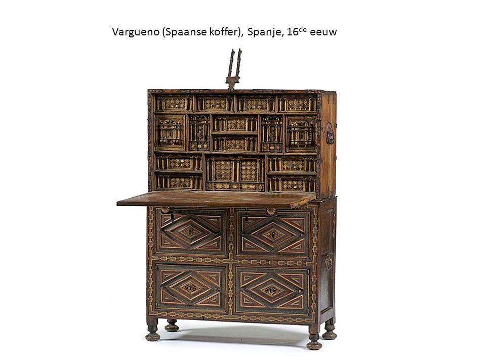 Vargueno (Spaanse koffer), Spanje, 16de eeuw