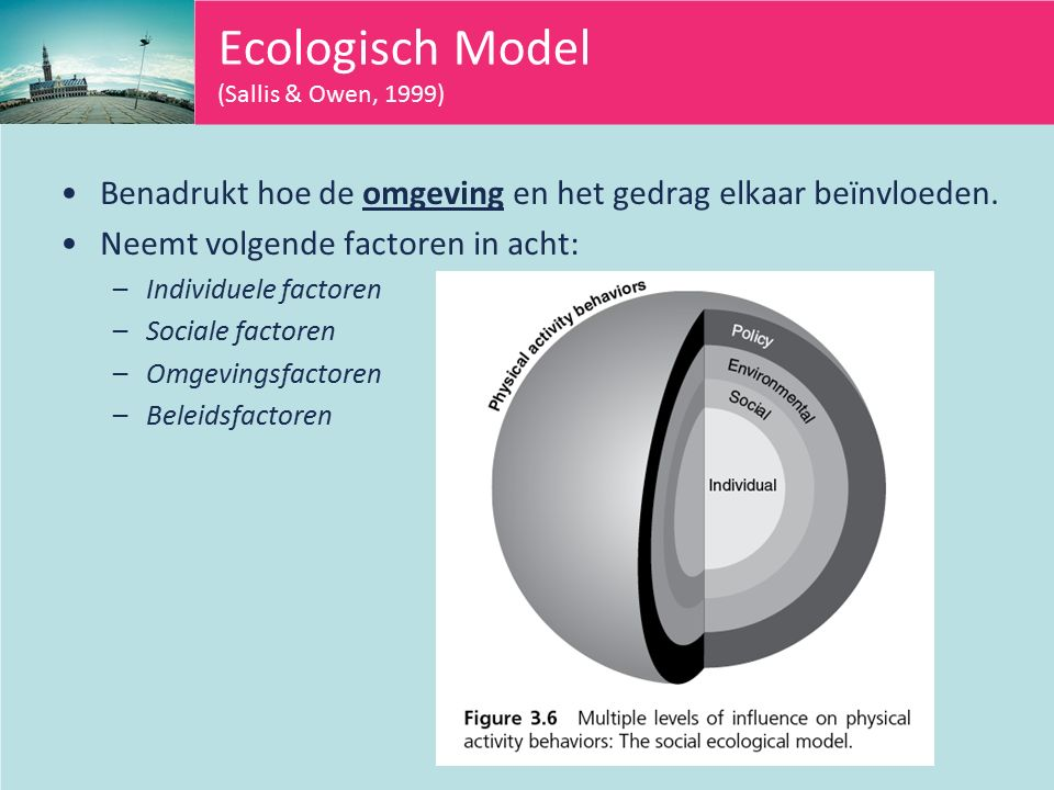 Ecologisch Model (Sallis & Owen, 1999)