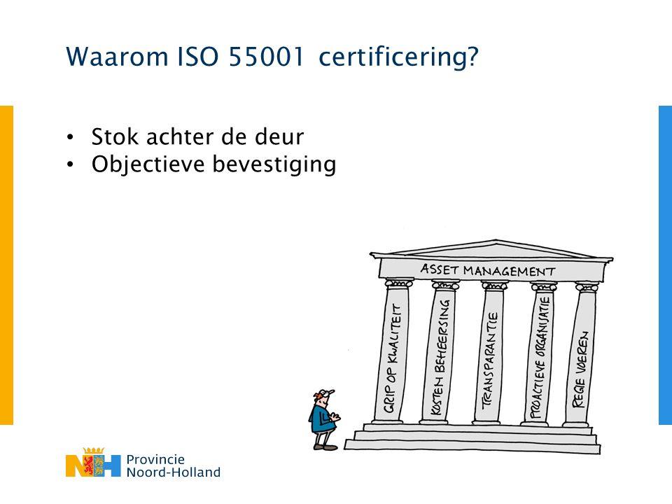 Waarom ISO 55001 certificering