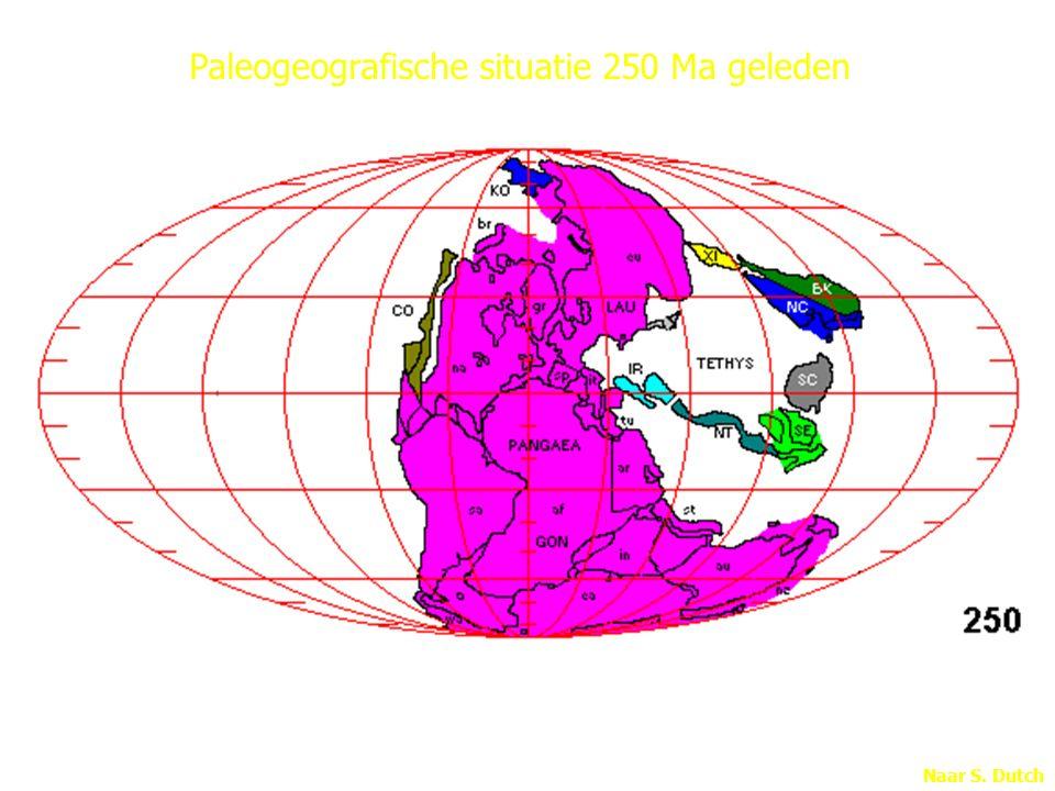 Paleogeografische situatie 250 Ma geleden