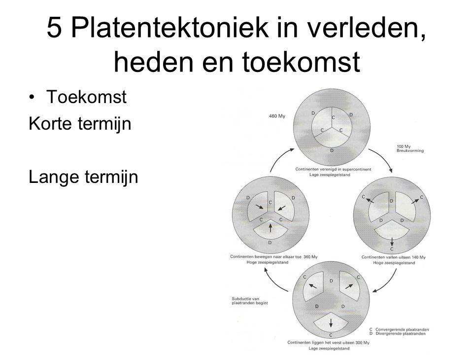 5 Platentektoniek in verleden, heden en toekomst