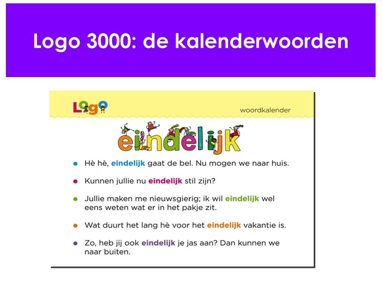 Logo 3000: de kalenderwoorden