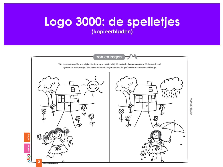 Logo 3000: de spelletjes (kopieerbladen)