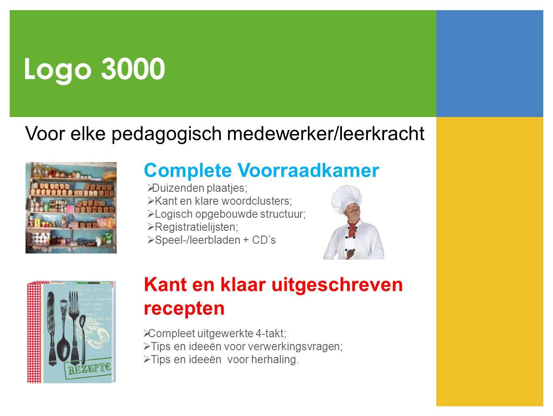 Logo 3000 Voor elke pedagogisch medewerker/leerkracht