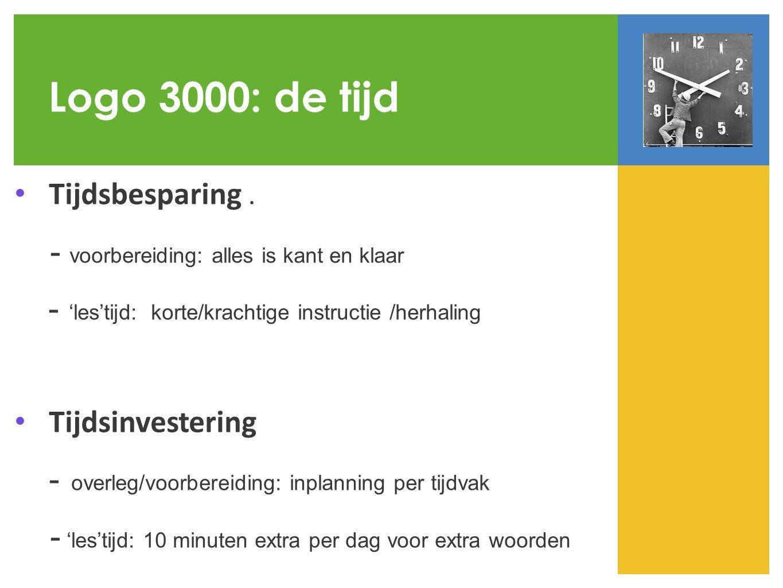 Logo 3000: de tijd Tijdsbesparing .