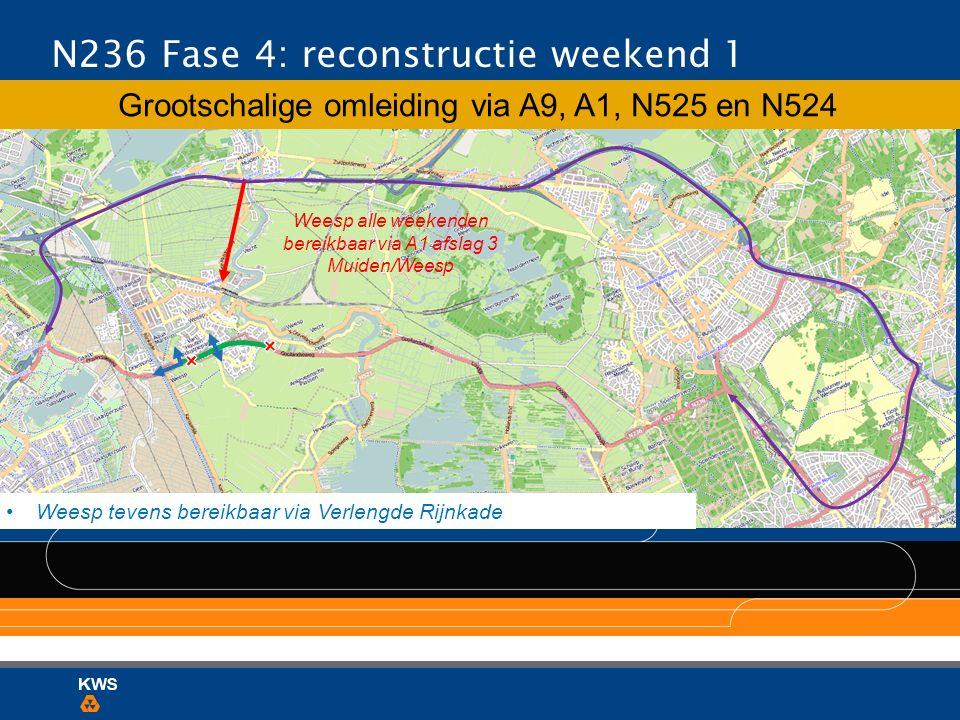 N236 Fase 4: reconstructie weekend 1
