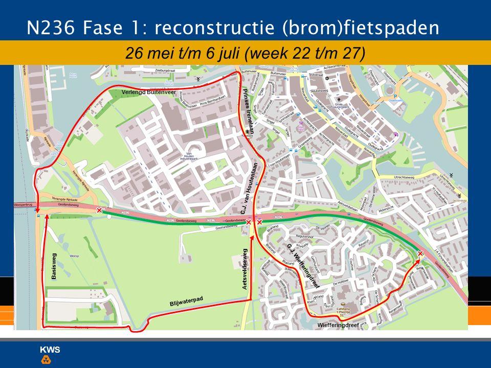 N236 Fase 1: reconstructie (brom)fietspaden