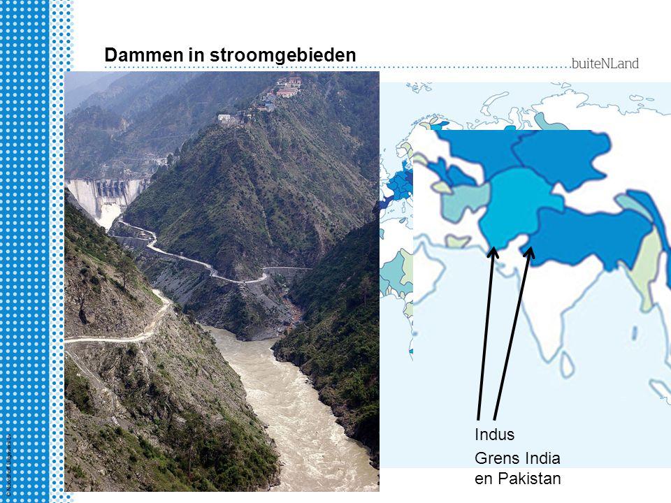 Dammen in stroomgebieden
