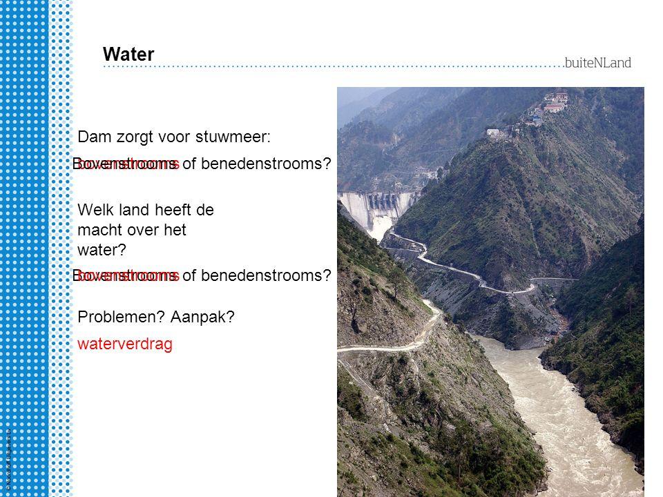 Water Dam zorgt voor stuwmeer: Bovenstrooms of benedenstrooms