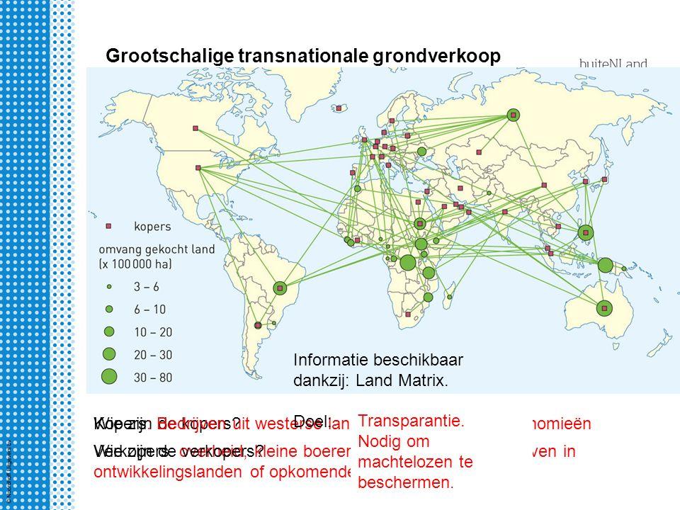 Grootschalige transnationale grondverkoop