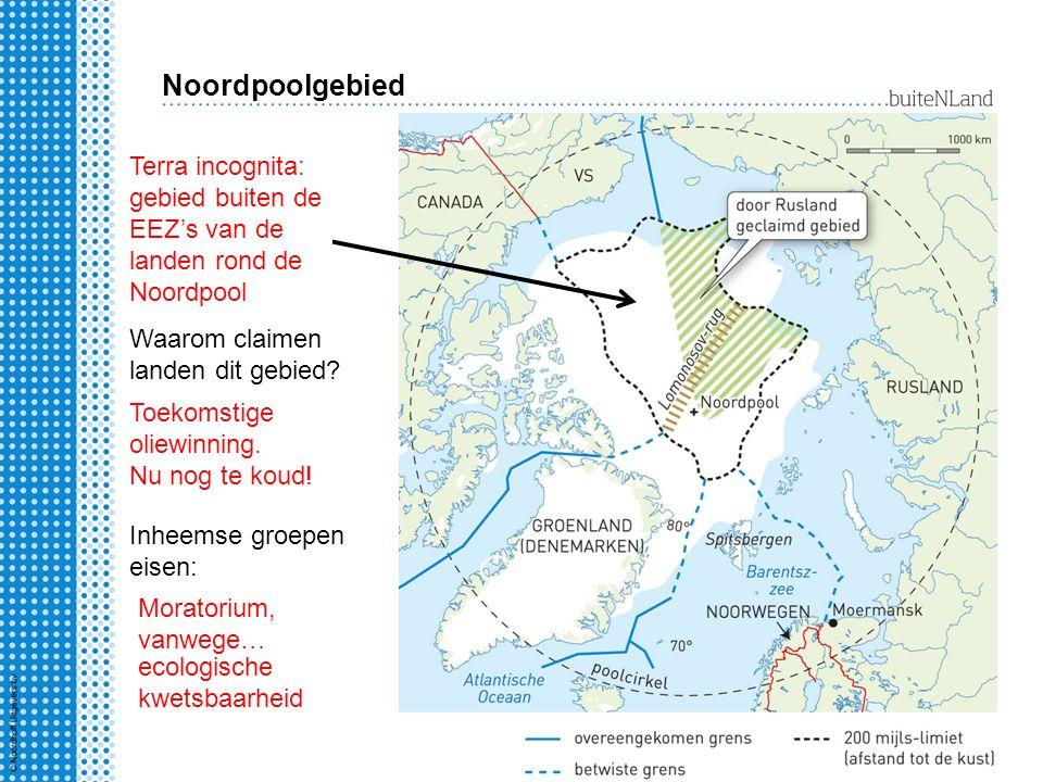 Noordpoolgebied Terra incognita: gebied buiten de EEZ's van de landen rond de Noordpool. Waarom claimen landen dit gebied