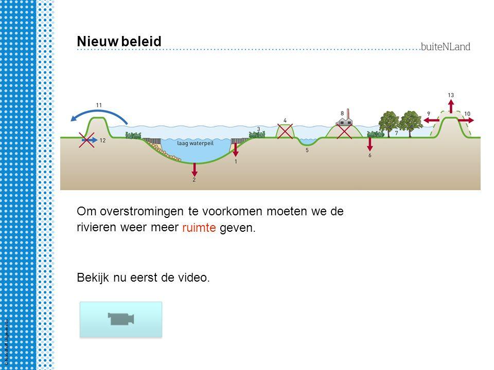 Nieuw beleid Om overstromingen te voorkomen moeten we de rivieren weer meer.