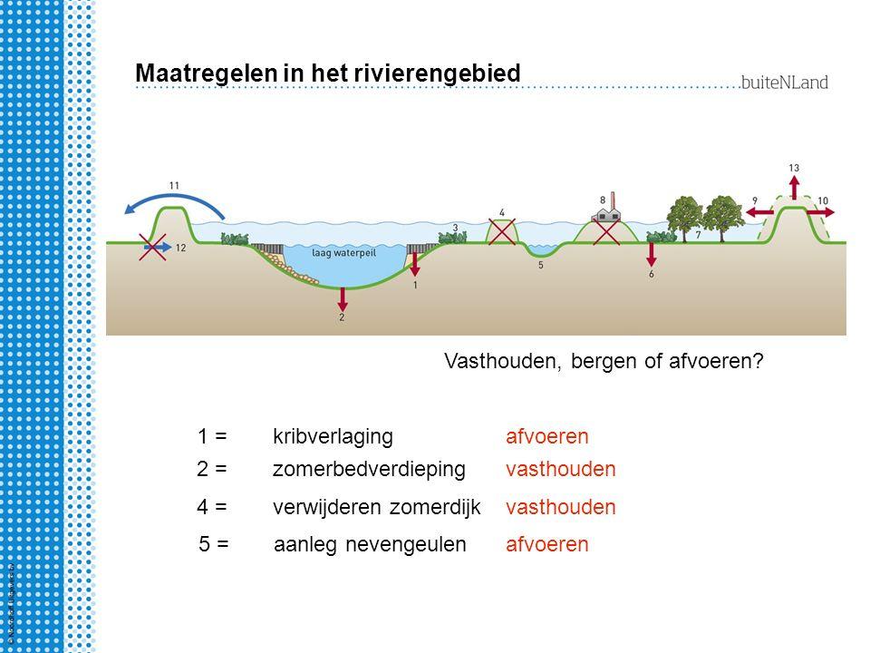 Maatregelen in het rivierengebied