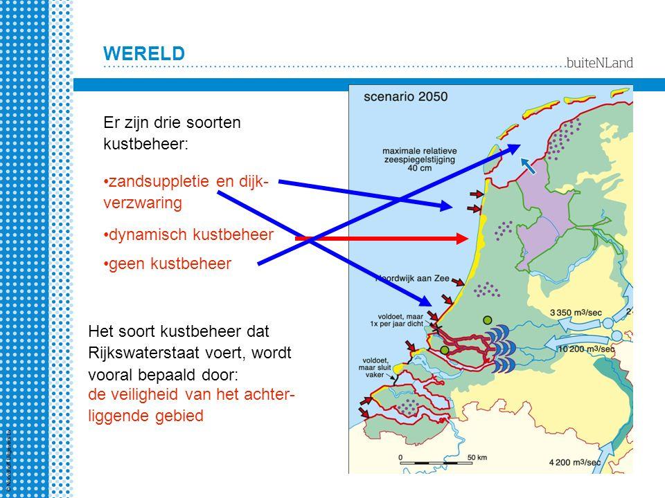 Er zijn drie soorten kustbeheer: