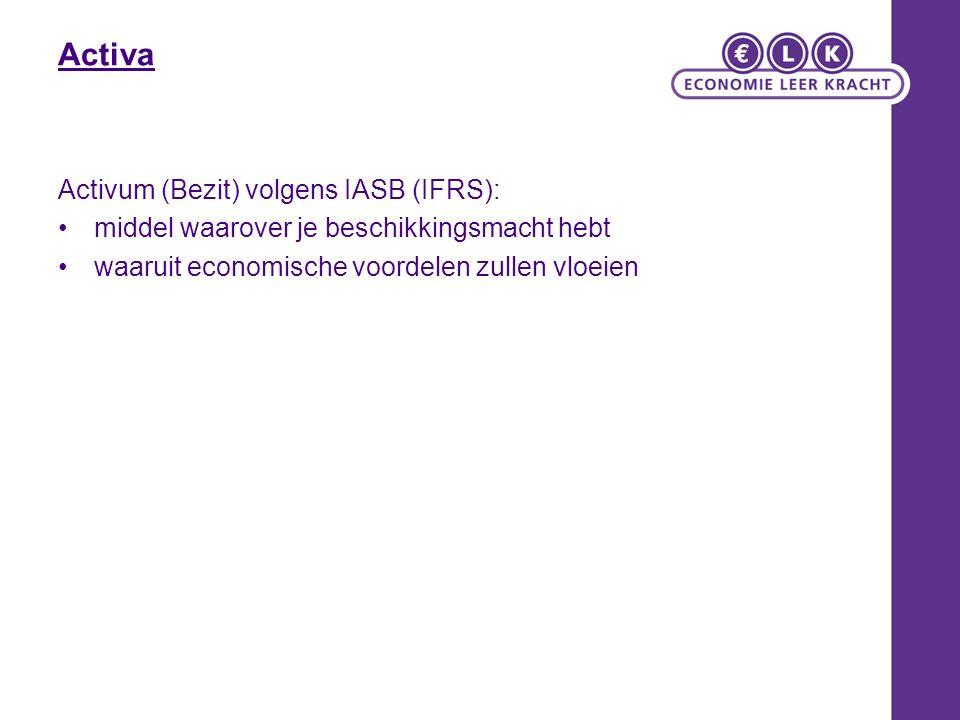 Activa Activum (Bezit) volgens IASB (IFRS):