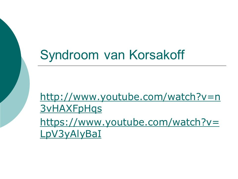 Syndroom van Korsakoff