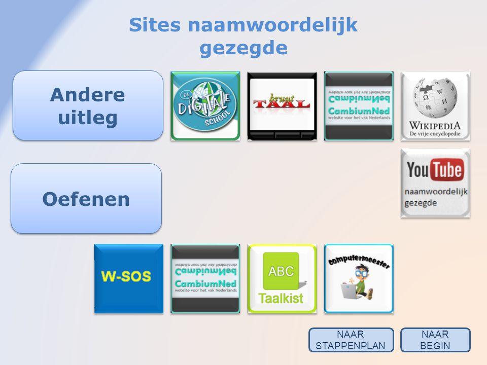 Sites naamwoordelijk gezegde