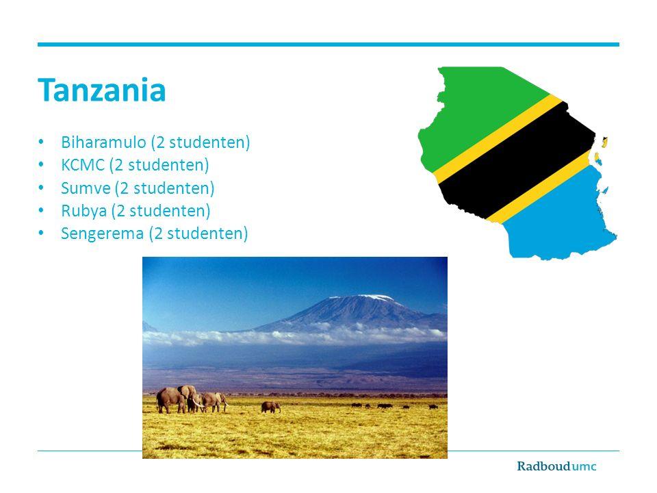 Tanzania Biharamulo (2 studenten) KCMC (2 studenten)